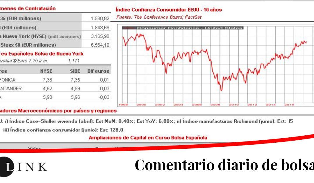 Día de vencimiento mensual de los contratos de derivados, lo que siempre distorsiona el comportamiento del mercado de contado
